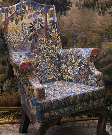 Trompe Lu0027oeil Mosaic Chair As If Woven Tapestry In Siennese Colours.